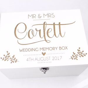 personalised white keepsake box
