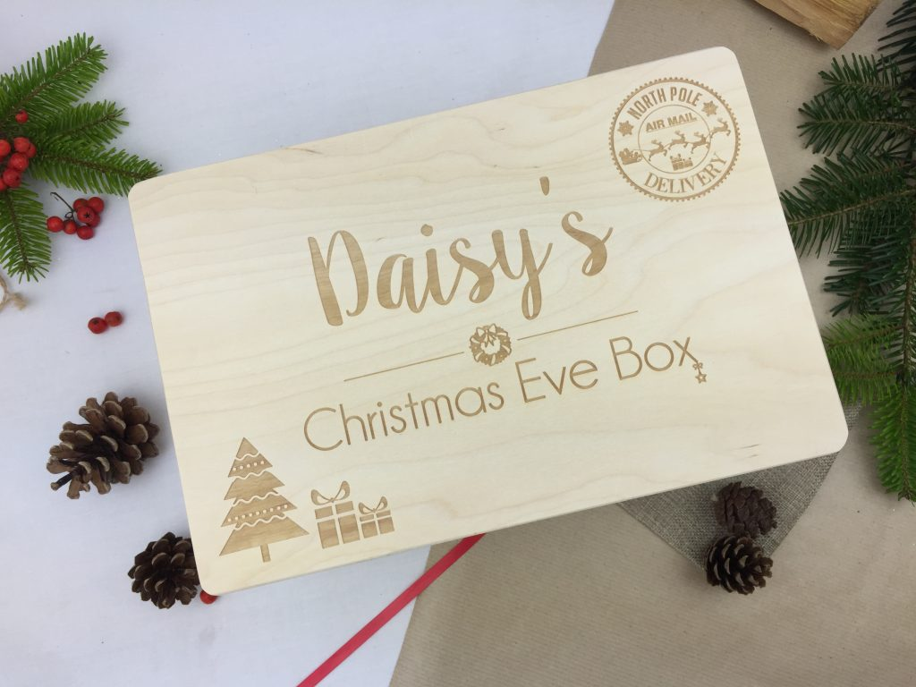 Personalised Christmas Eve Box North Pole Stamp Hopwood