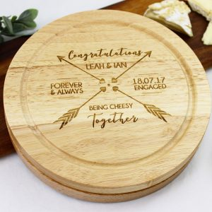 Personalised cheese board, cheese serving board