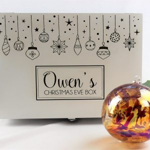 personalised luxury white Christmas eve box
