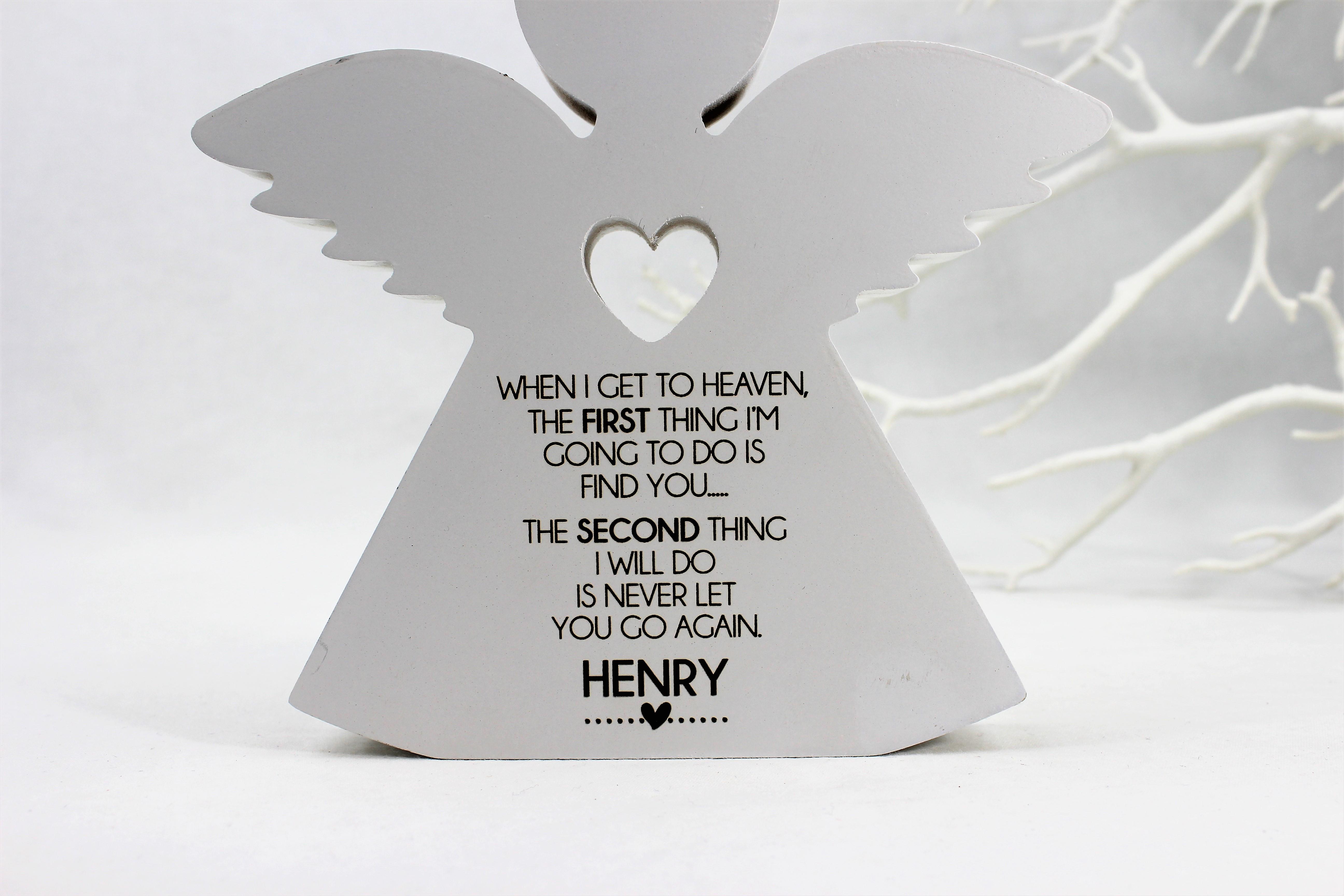 Personalised free standing angel