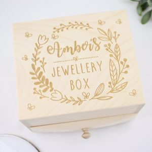 Personalised wooden jewellery