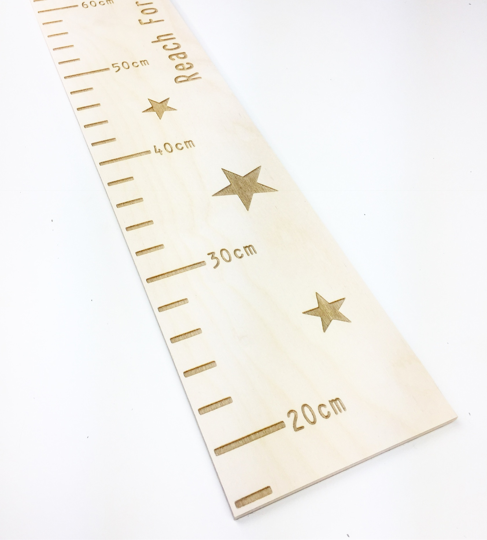 Personalised wooden growth chart ruler