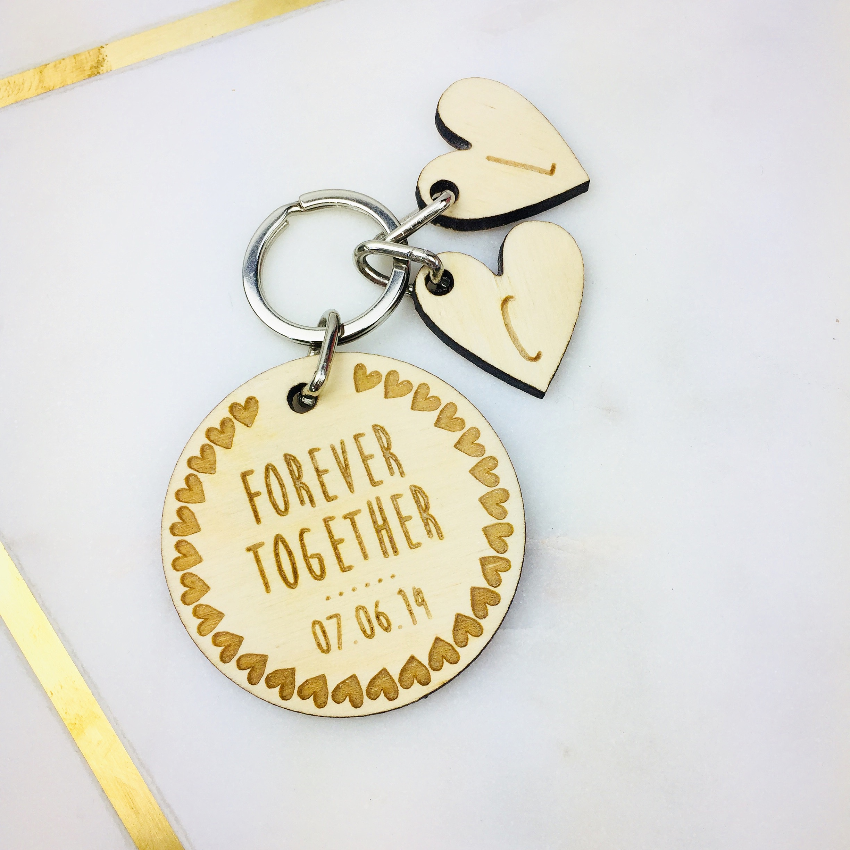Personalised initial key ring