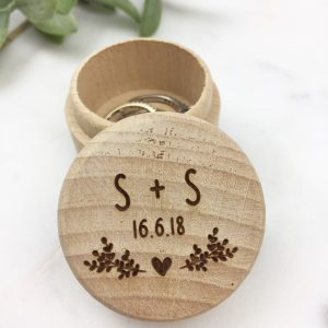 Personalised initial ring box
