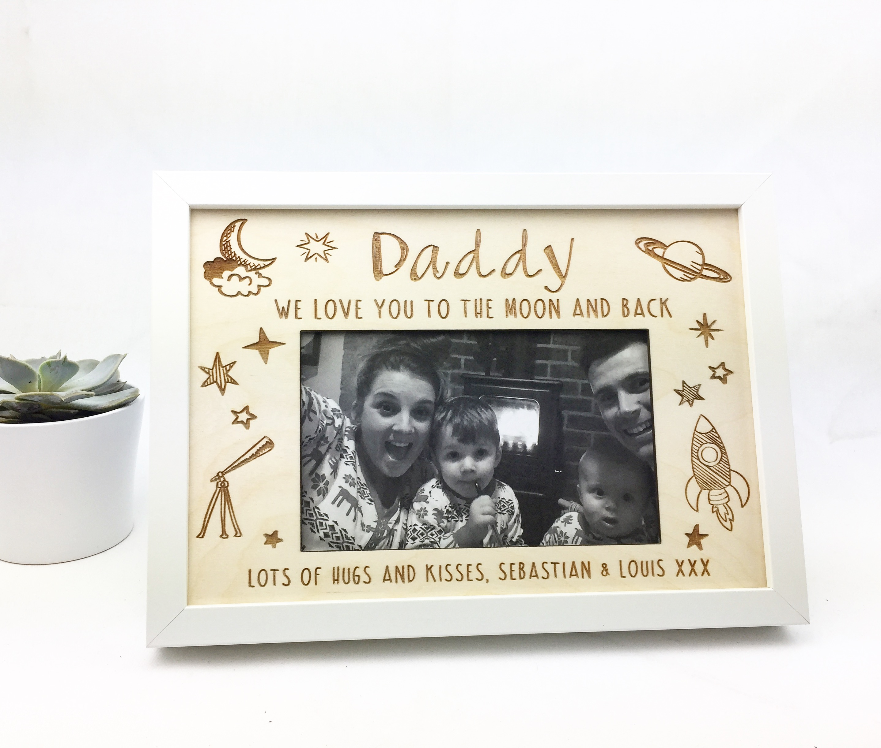 Personalised Picture Frame - Love You To The Moon & Back | Hopwood ...