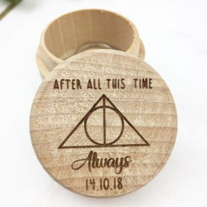 Harry Potter themed ring box