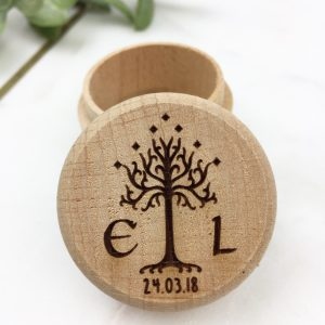 Lord Of The Rings wooden ring box