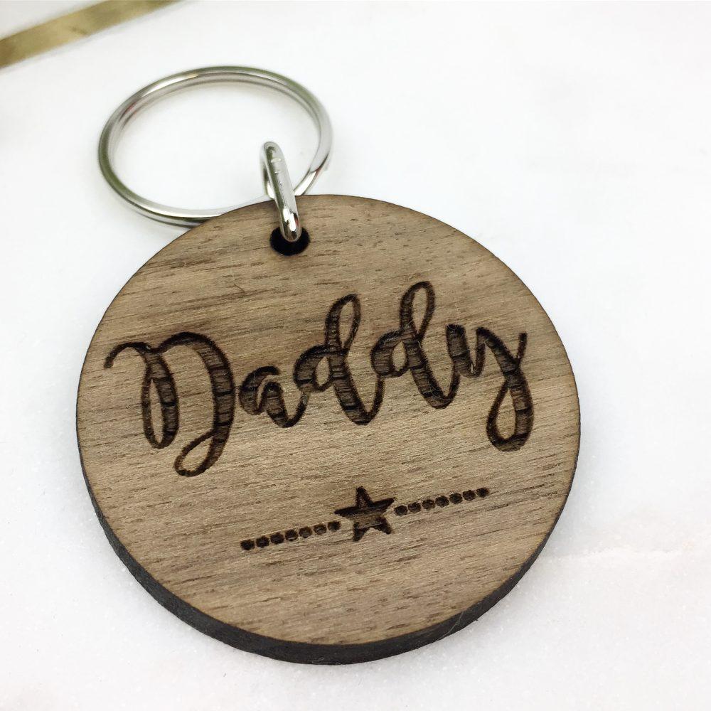 Walnut Daddy key ring