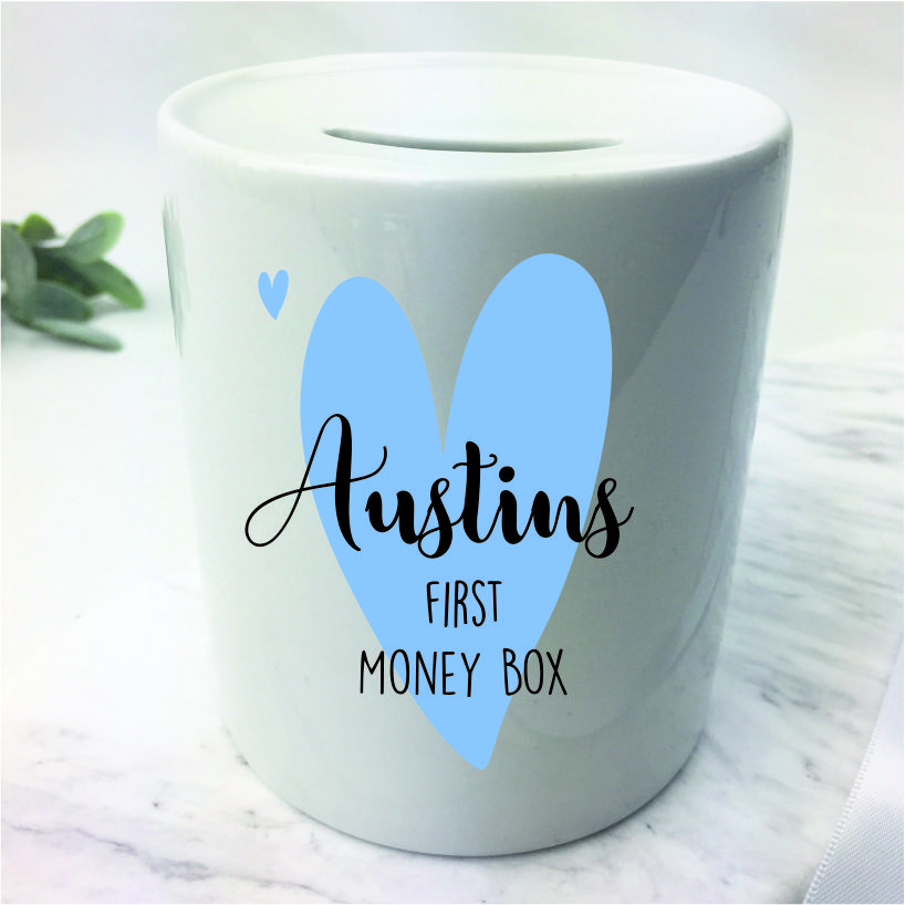 Personalised first money box