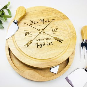 Brie mine personalised cheese board