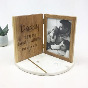 Personalised oak photo book