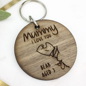 Walnut draw me a key ring
