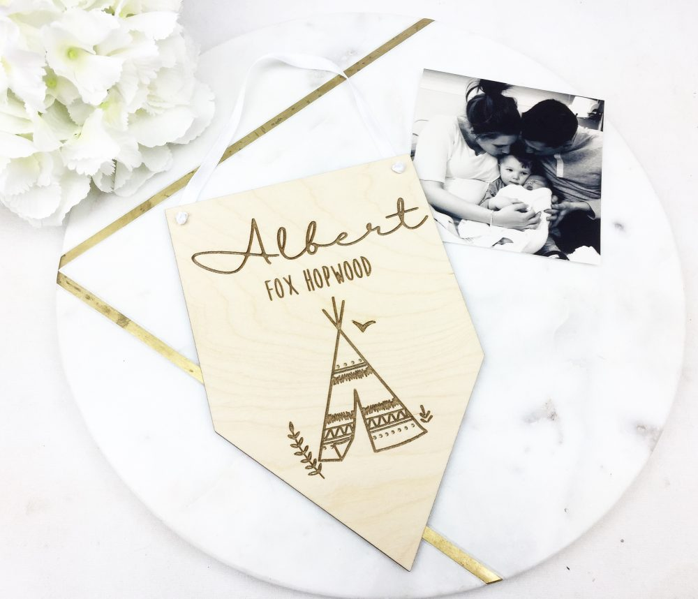 Teepee Name Plaque