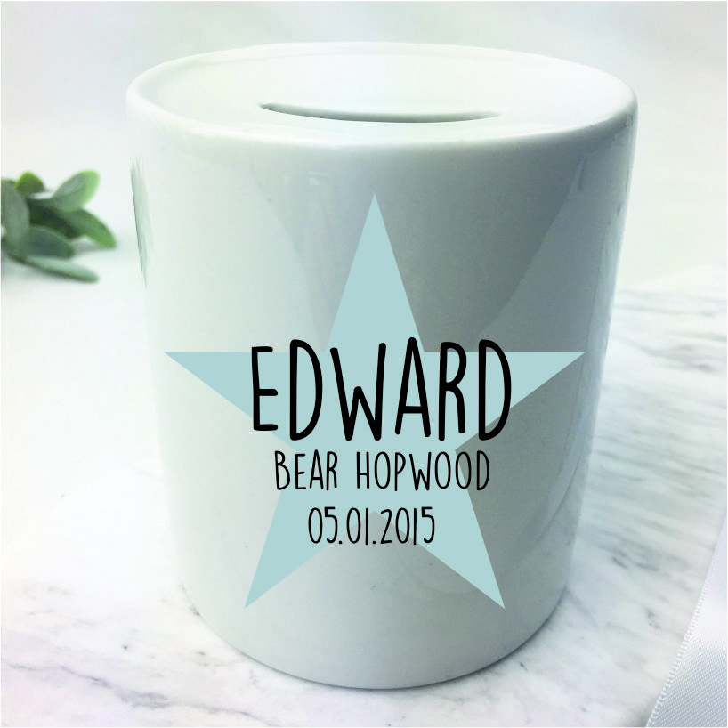 Personalised name money box