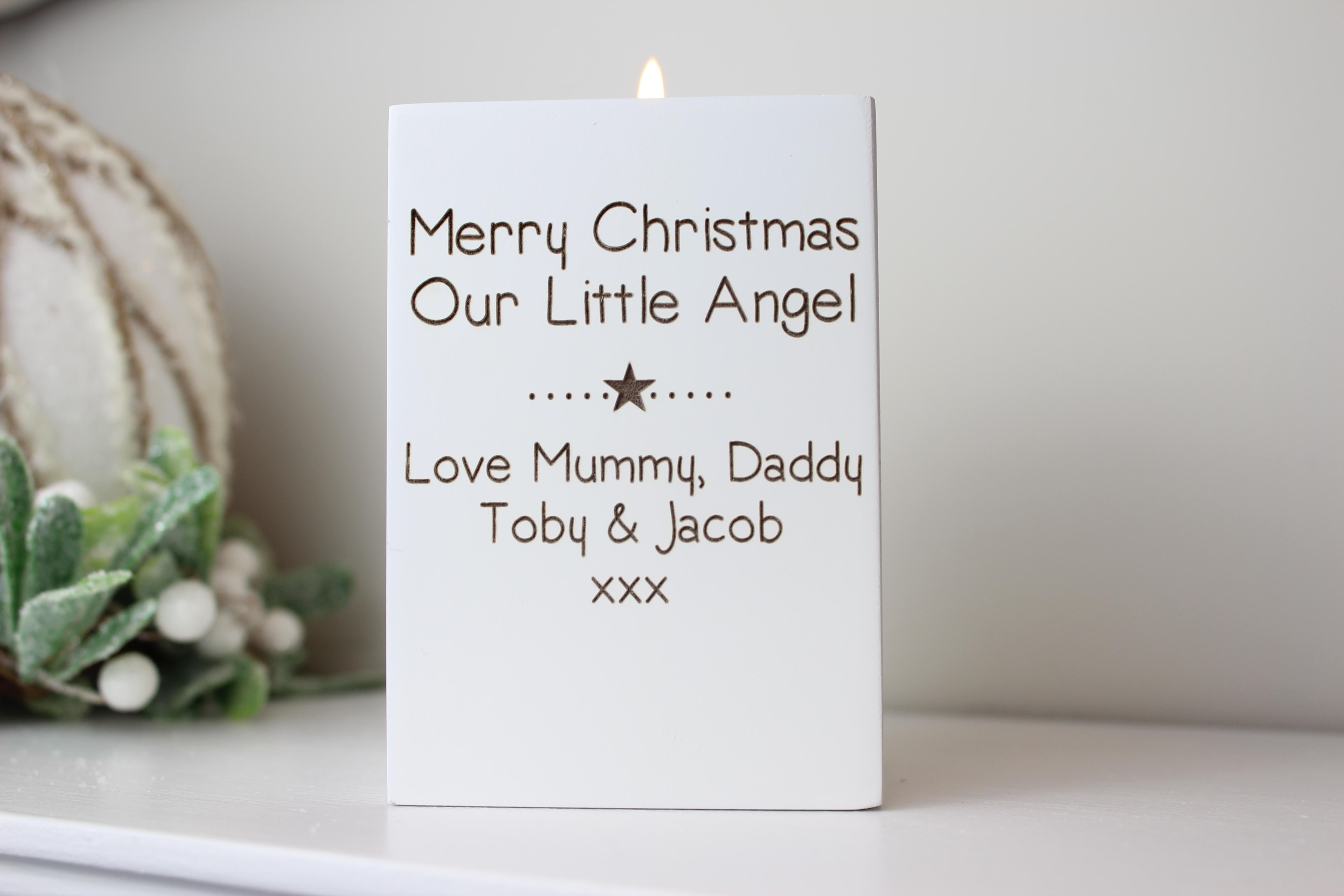Christmas wishes tea light holder