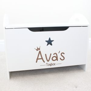 Personalised princess crown toy box