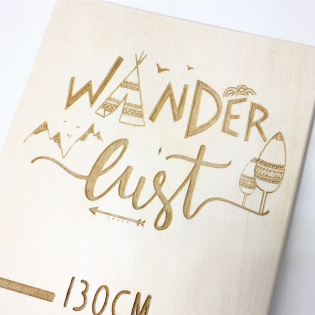 Wander lust boho growth chart wall ruler