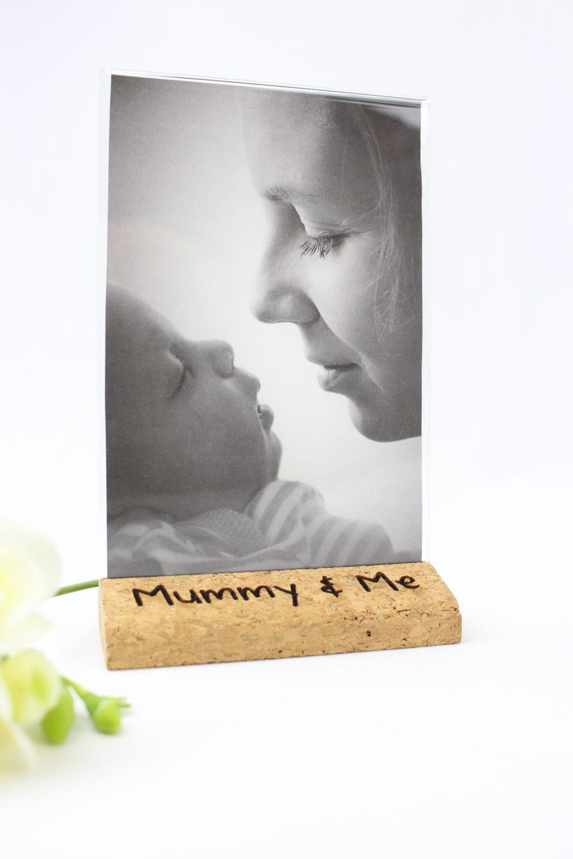 Personalised cork photo frame