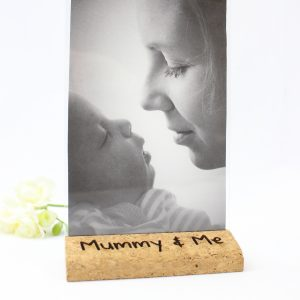 Personalised cork photo frame