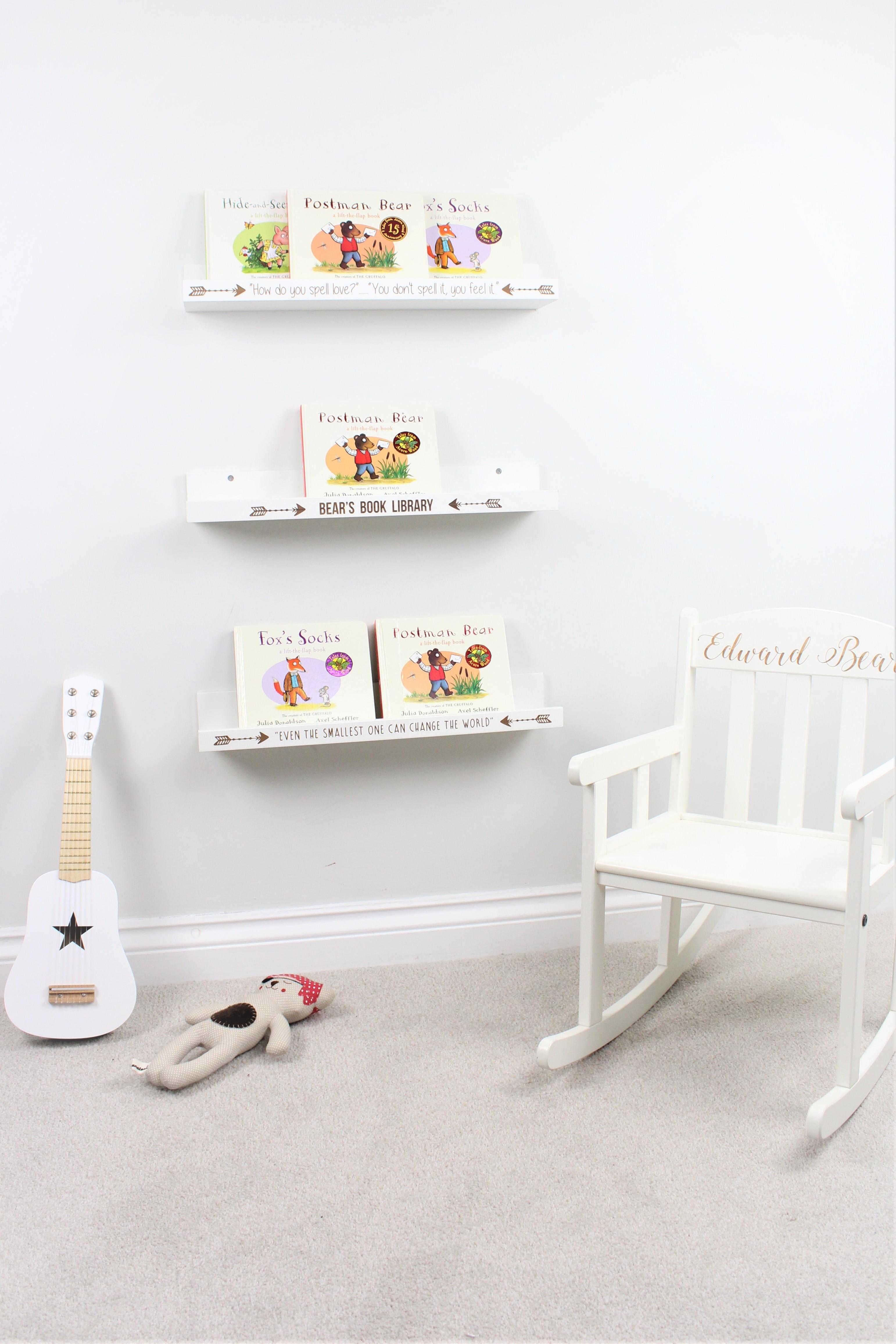 Personalised book shelves