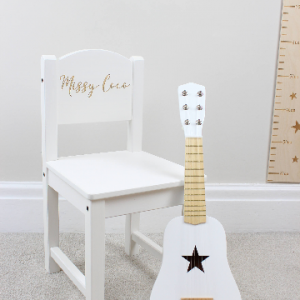 reading chair, personalised chair, white chair, childrens chair, childrens personalised chair, white chair