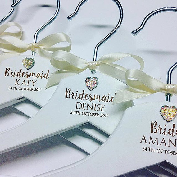Personalised bridal wedding hangers jewel design