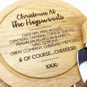 Personalised christmas cheese board