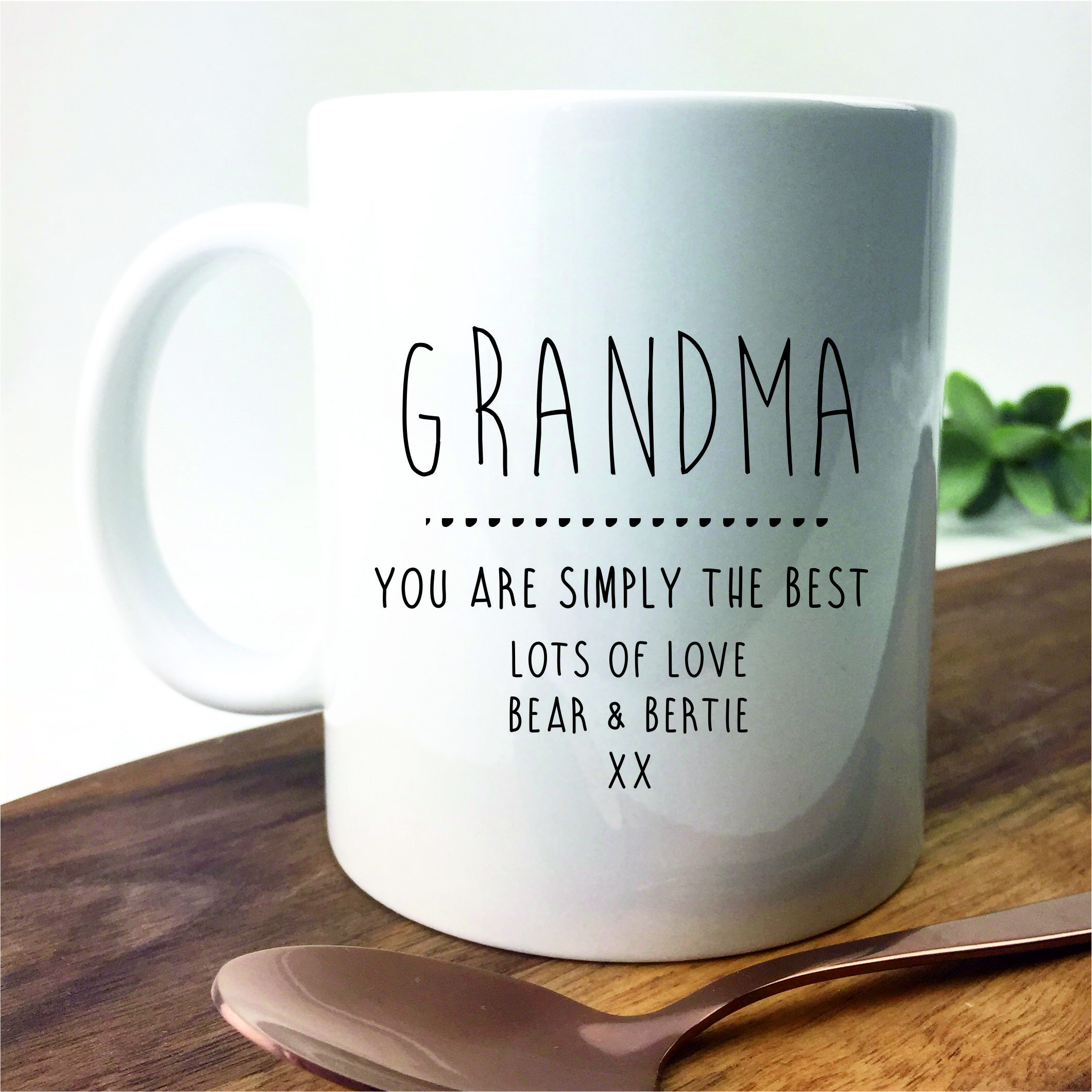 Personalised Grandma Mug Hopwood Laser Design