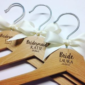 Personalised bridal wedding hangers